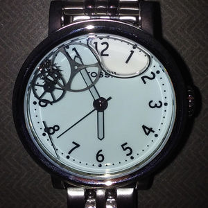 FOSSIL FLOATING GEARS LIQUID BLUE FACE WATCH**NEW!